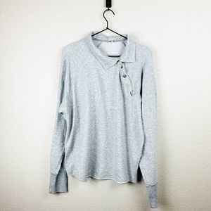 Free People gray pullover